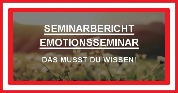 Emotions Seminar