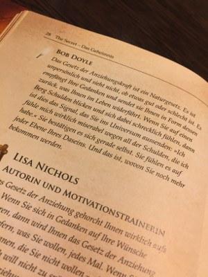 Gesetz der Anziehung anwenden - Zitat im Buch