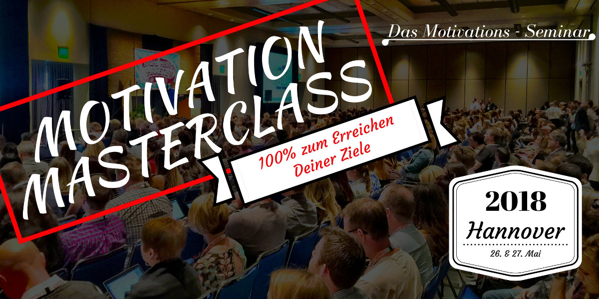 Motivation Masterclass Eventbild