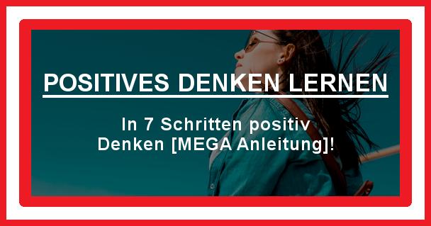 Positives Denken Lernen Beitragsbild